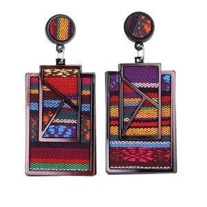 Large Ethnic Drop Hanging Earrings